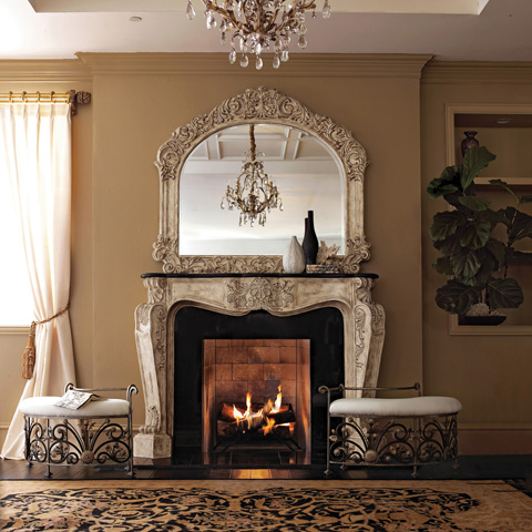 Ambella Home Collection - French Fireplace Surround Décor - 01135-420-072