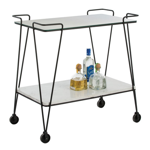 Arteriors Imports Trading Co. - Myrtle Bar Cart - 4039