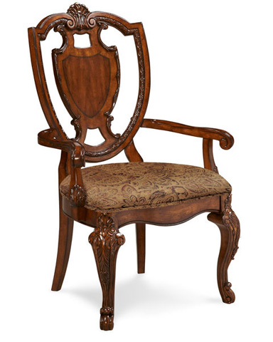 A.R.T. Furniture - Sheild Back Dining Arm Chair with Upholstered Seat - 143203-2606