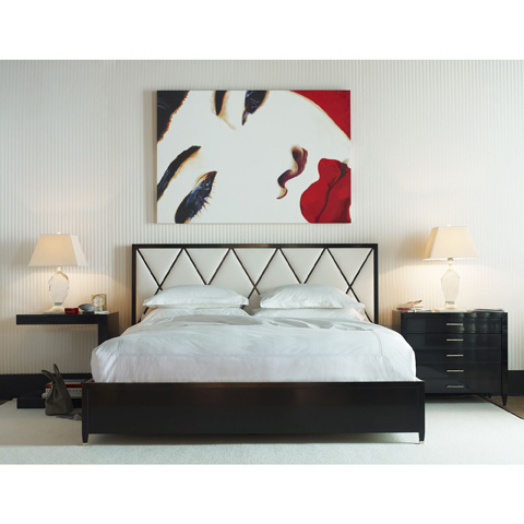 Baker Furniture - Mondetour Upholstered Panel Bed - 3823K
