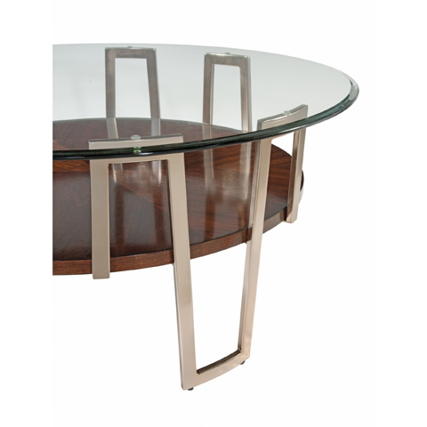 Bassett Mirror Company - Cornell Round Cocktail Table - 3017-121B-T