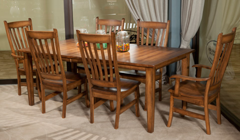 Borkholder Furniture - Burwick Leg Table - 14-8007LF1