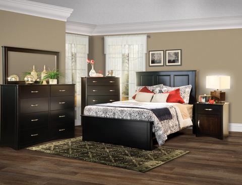 Borkholder Furniture - Carrington Queen Panel Bed - 45-1501QXX