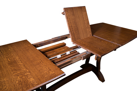 Borkholder Furniture - Crescent Trestle Solid Top Pub Table - NC-1303STX