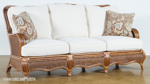 Braxton Culler - Wicker / Rattan Sofa with Cushions - 1910-011