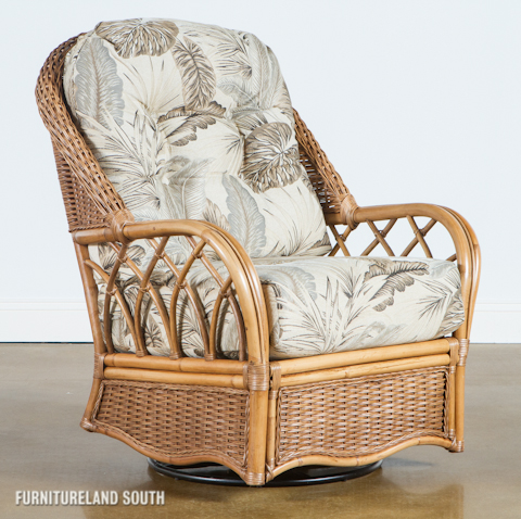 Braxton Culler - Wicker / Rattan Swivel Glider with Cushions - 905-202