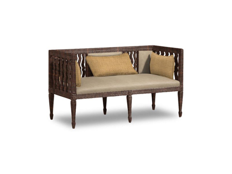 Caracole - Cut Out for You Leather Settee - UPH-SETTEE-01L