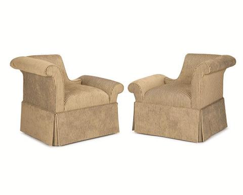 Century Furniture - Godwin Left Arm Facing Skirted Chair - 11-444