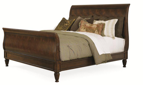 Century Furniture - King Westbourne Sleigh Bed - 36H-166