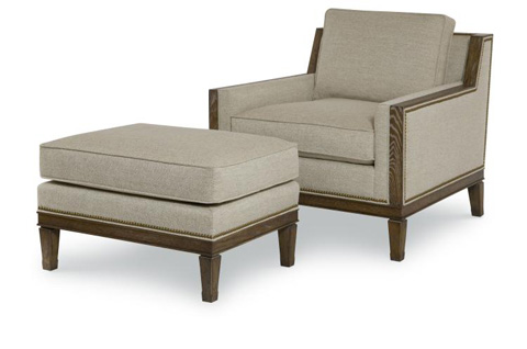 Century Furniture - Stradling Ottoman - AE-33-1064