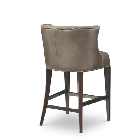 Century Furniture - Leather Barstool - PLR-3853B-MUSHROOM