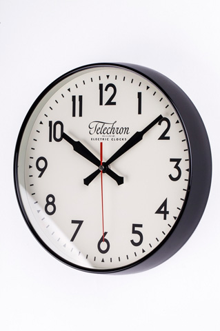 Control Brand - The Corby Wall Clock in Black - G131512BLK