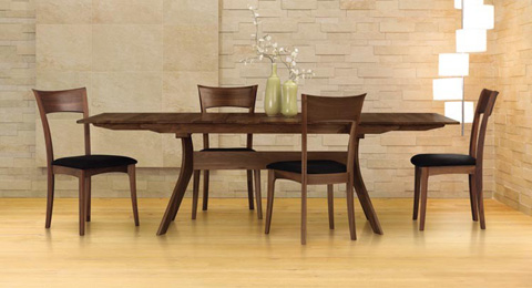 Copeland Furniture - Audrey Fixed Top Table - Walnut - 6-AUD-06-04