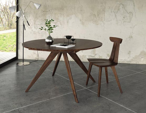 Copeland Furniture - Catalina Round Dining Table in Walnut - 6-CRE-54-04