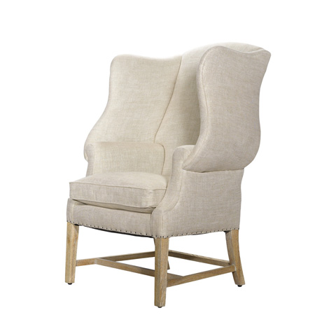Curations Limited - Beige New Age Chair - 7841.0003.A015