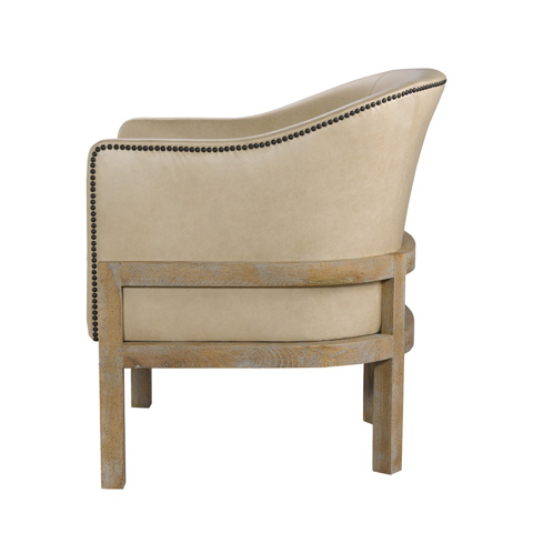 Curations Limited - Lucerne Leather Club Chair - 7841.0032