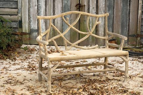 Currey & Company - Woodland Bench - 2705