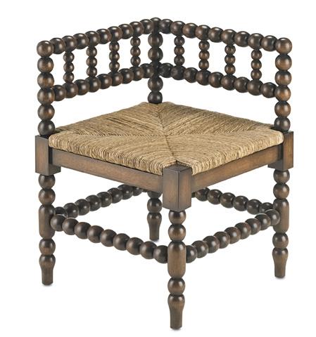 Currey & Company - Camden Corner Chair - 3225