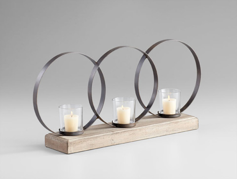 Cyan Designs - Ohhh Three Candle Candleholder - 05084