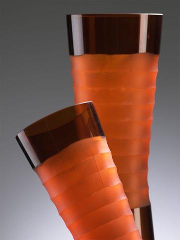 Cyan Designs - Tall Orange Chiseled Neck Vase - 00953