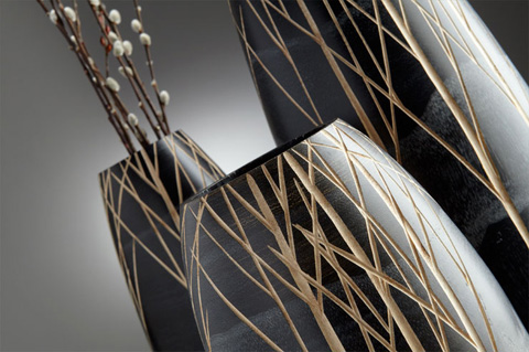 Cyan Designs - Large Onyx Winter Vase - 06025