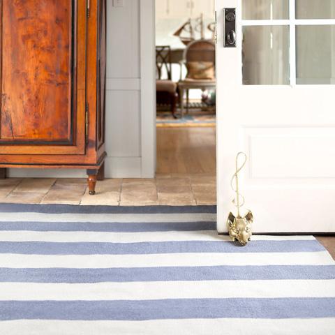 Dash & Albert Rug Company - Falls Village Stripe Violet Indoor/Outdoor Rug - RDB313-58