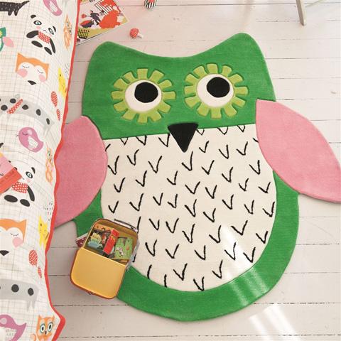 Designers Guild - Little Owl Emerald Kids Rug - DHR173/01