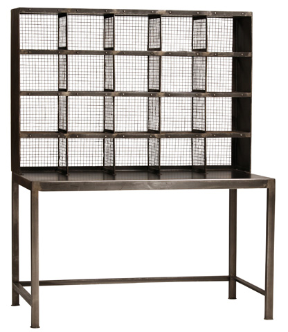 Dovetail Furniture - Leonard Steel Desk - AH175