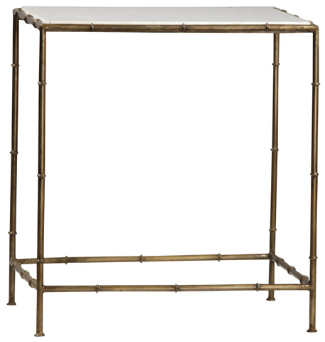 Dovetail Furniture - Iron Marble End Table - AN044