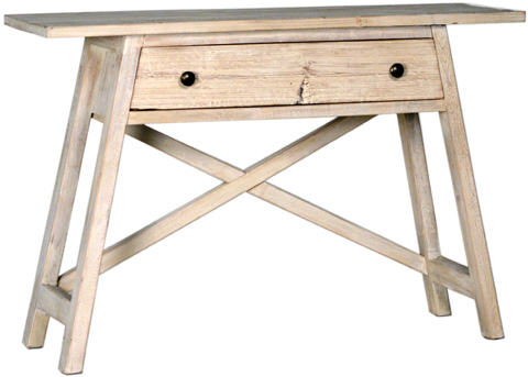 Dovetail Furniture - Helge Console Table in White - DOV1037OW