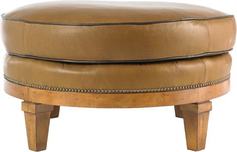 Drexel Heritage - Chloey Leather Ottoman - L1681-OT