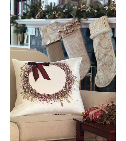 Eastern Accents - Holly Wreath Pillow - ATE-203