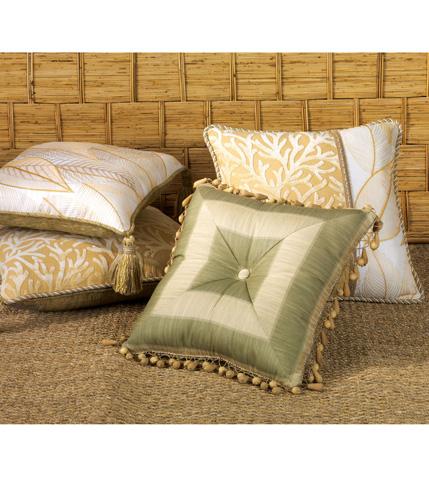 Eastern Accents - Leeward Aloe Tufted Pillow - ATG-06