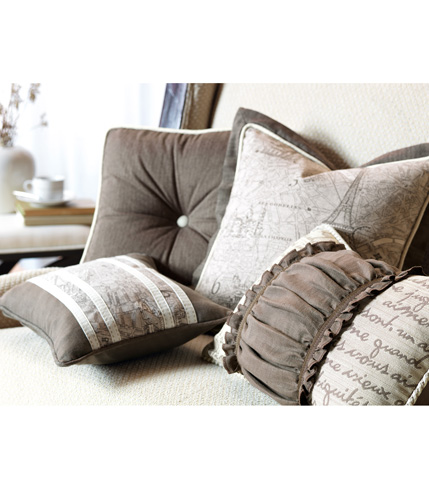 Eastern Accents - Flint Charcoal Boxed and Tufted Pillow - DAP-11