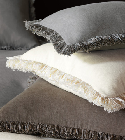Eastern Accents - Breeze Clay Pillow with Brush Fringe - DPB-302
