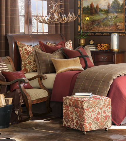 Eastern Accents - Dorian Saddle Pillow with Tailors Tack - DPG-361-M