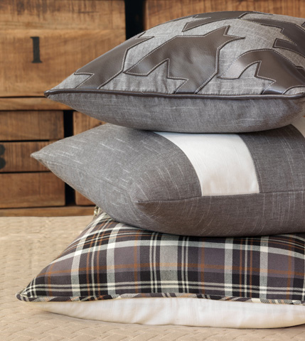 Eastern Accents - Glarus Charcoal Pillow with Small Welt - ESO-09