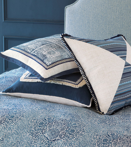 Eastern Accents - Grover Indigo Mitered Pillow - MAR-05