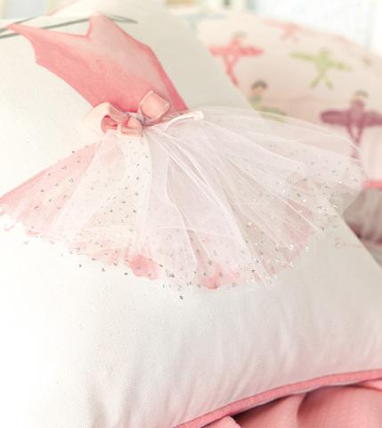 Eastern Accents - Ballerina Attire Hand-Painted Pillow - MAT-09