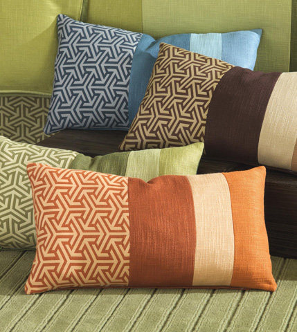 Eastern Accents - Mondrian Canyon Collage Pillow - MND-158-05