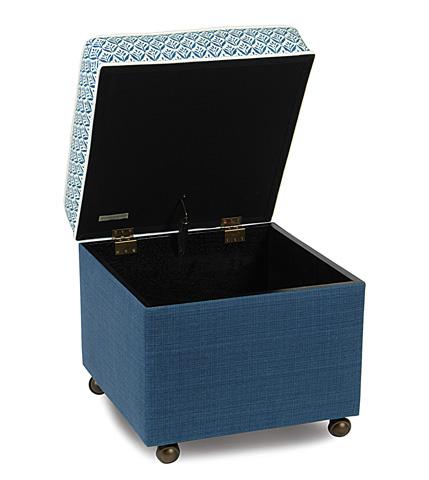 Eastern Accents - Kari Iris Storage Boxed Ottoman - OTD-279