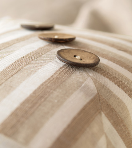 Eastern Accents - Linum Natural Pillow with Buttons - SIL-06