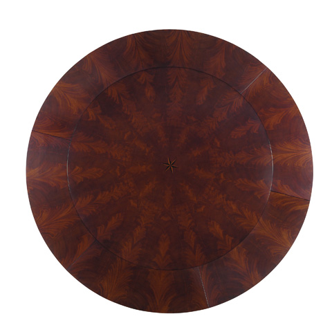 EJ Victor - 60' Round Dining Table with Six Perimeter Leaves - 9200-20