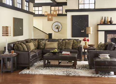 Flexsteel - Leather Sectional - 1373-SECT