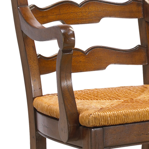 French Heritage - Beaujolais Ladder Back Arm Chair - M-1027-004-CHA