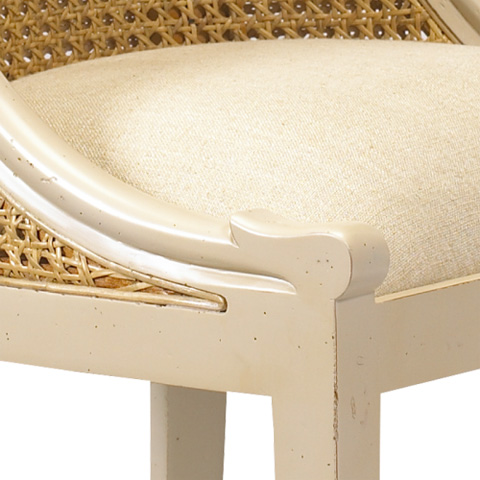 French Heritage - Sorrell Cane Back Side Chair - M-1528-201-BEI