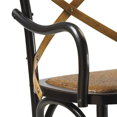 French Heritage - Bosquet Counter Stool - M-2426-1001-BLK