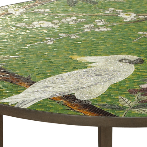 French Heritage - Birds and Blossoms Round Dining Table - M-1320-102-RUST