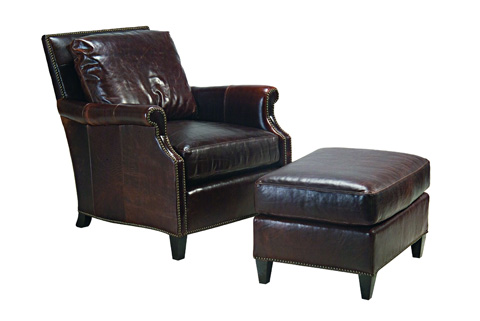 Chaddock - Leather Chartwell Ottoman - L-0402-0