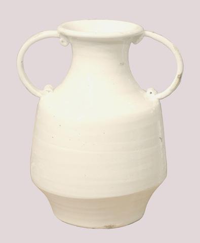 GJ Styles - Charlotte Vase in Antique White - KS270